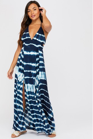 Accessorize Blue Tie Dye Maxi Dress