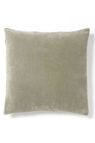 Cox & Cox Velvet And Linen Square Cushion
