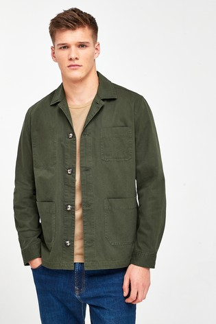 Khaki Chore Shacket