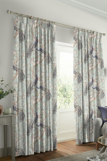 Laura Ashley Duck Egg Belvedere Made to Measure Curtains