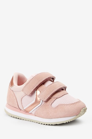 Pink Double Strap Trainers (Younger)