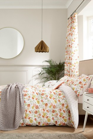 V&A Poppy Garden Duvet Cover and Pillowcase Set