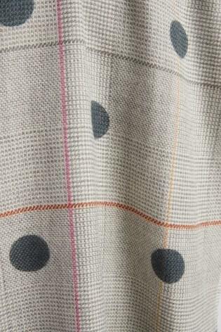 Grey Check Spot Scarf