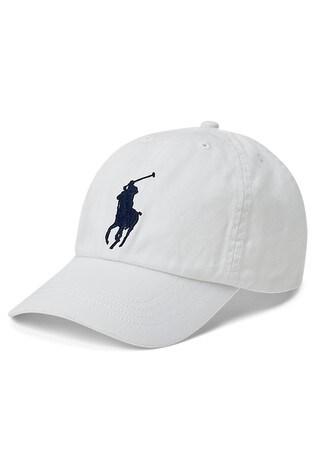 Ralph Lauren White Big Pony Cap