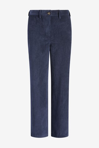 Navy Cord Wide Leg Trousers