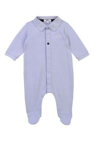 BOSS Baby Light Blue Logo Sleepsuit