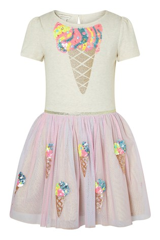 Monsoon Pink Disco Iris Ice Cream Dress