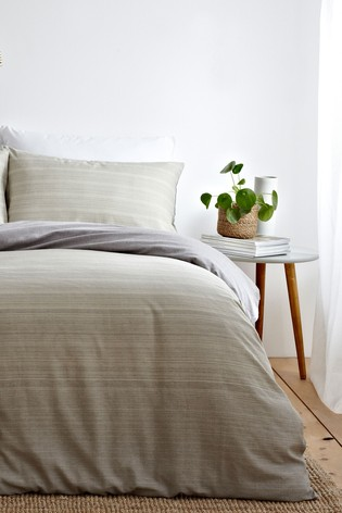 Riva Home Natural Signature Ombre Duvet Cover and Pillowcase Set