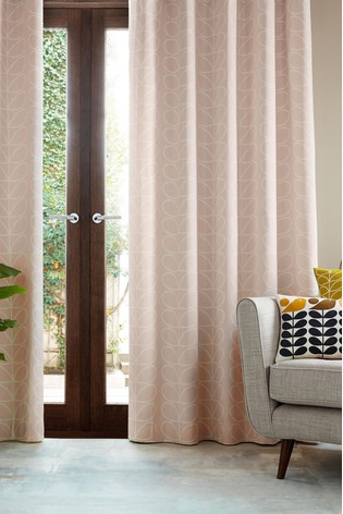 Orla Kiely Exclusive To Next Linear Stem Lined Eyelet Curtains