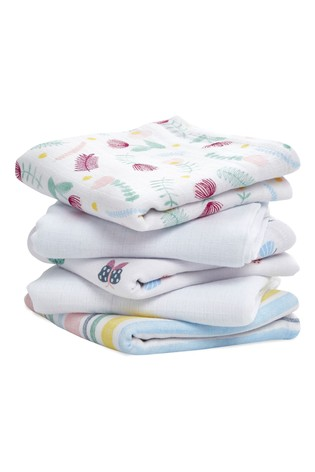 aden + anais Floral Fauna Essentials Muslin Squares Five Pack