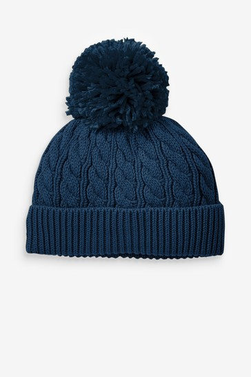 Personalised Cable Pom Hat