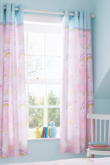 Llamacorn Eyelet Curtains by Catherine Lansfield