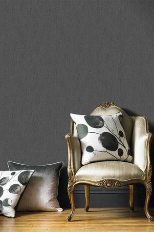 Superfresco Easy Albert Plain Black Wallpaper by Art For The Home