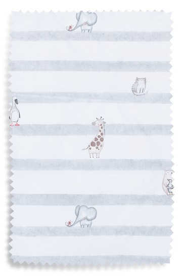 Baby Animals Stripe Duvet Cover and Pillowcase Set