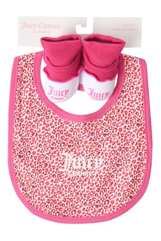 Juicy Couture Leopard Bib & Bootie Set