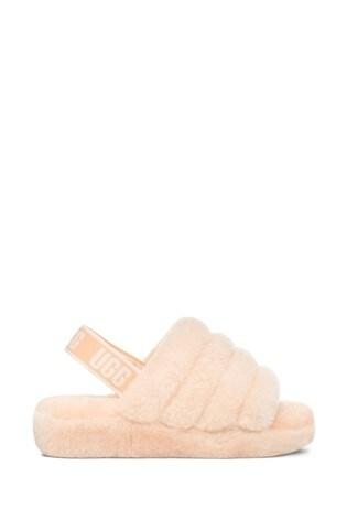 UGG® Pink Fluff Yeah Slide Slippers