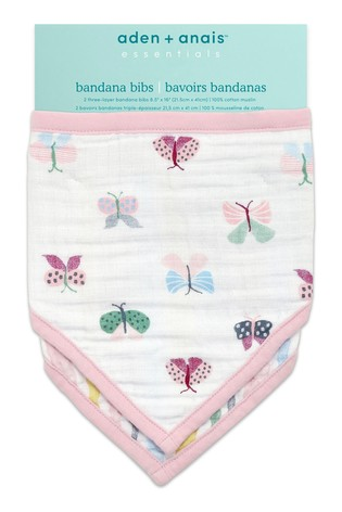 aden + anais Floral Fauna Essentials Bandana Bibs Two Pack