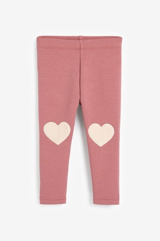 Pink Heart Cosy Leggings (3mths-7yrs)
