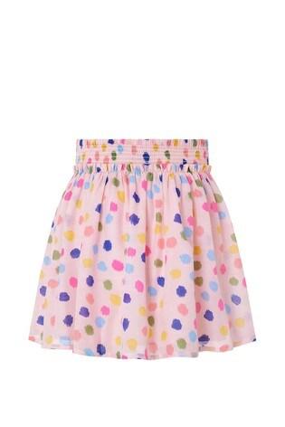 Monsoon Pink Naomi Splodge Skirt