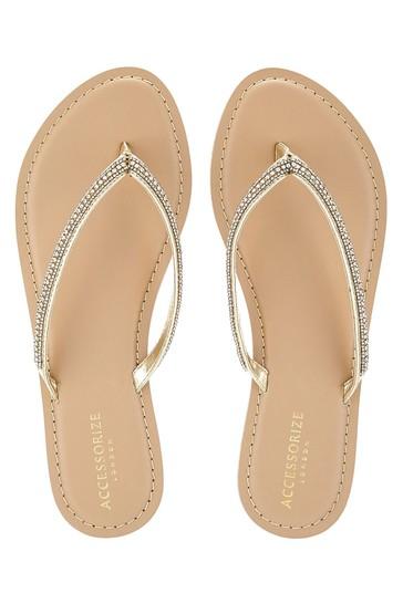 Accessorize Brown Daniella Single Strap Sandals