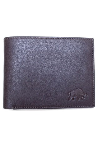 Raging Bull Brown Leather Coin Wallet