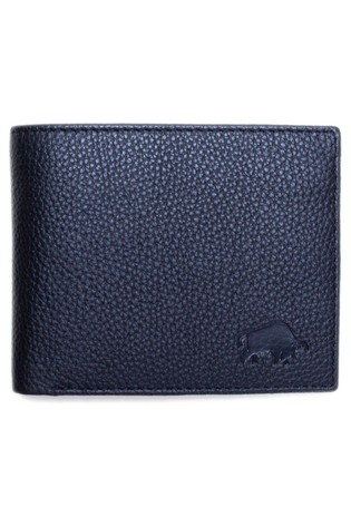 Raging Bull Black Leather Coin Wallet