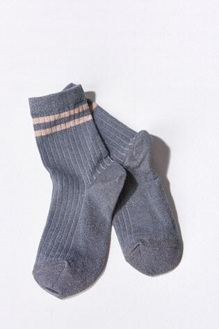 Mint Velvet Blue Mp Denmark Glitter Socks