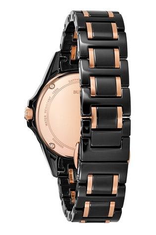 Bulova Marine Star Diamond Black Ion Plated Bracelet Watch