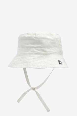 Petit Bateau White Twill Sun Hat