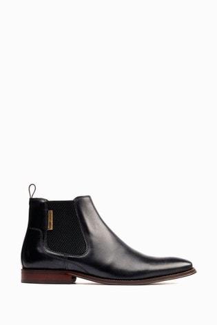 Base London Black Sikes Chelsea Boots