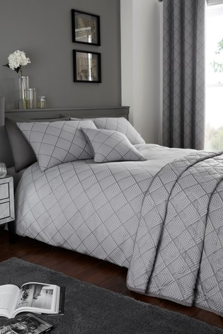 Wilmslow Geo Jacquard Duvet Cover and Pillowcase Set by Serene