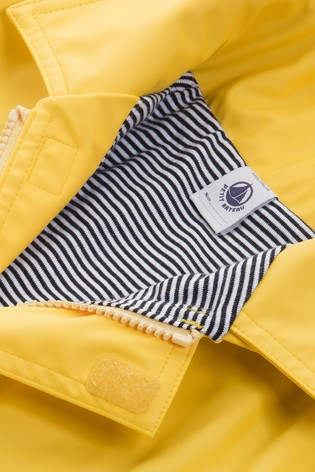 Petit Bateau Yellow Iconic Waxed Raincoat