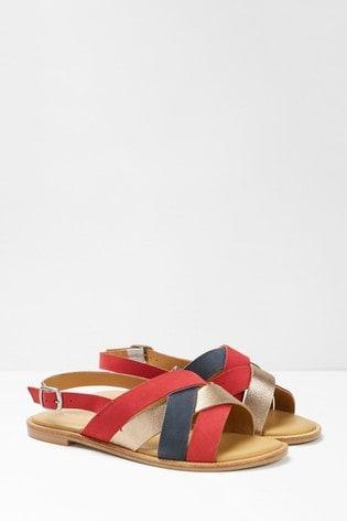 White Stuff Red Orla Strappy Sandals