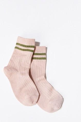 Mint Velvet Pink Rose Mp Denmark Glitter Socks
