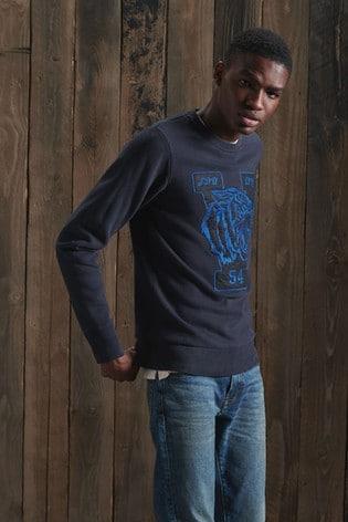 Superdry Vintage Applique Crew Sweatshirt
