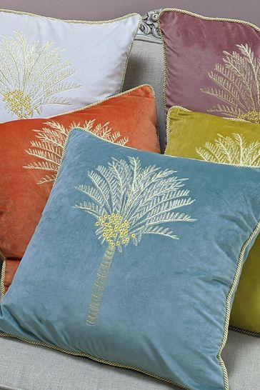 Furn Blue Desert Palm Cushion
