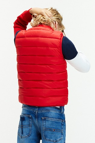 Tommy Hilfiger Red Lightweight Down Gilet