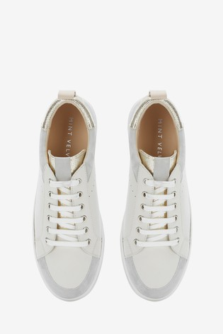 Mint Velvet Hailey Stone Leather Trainers