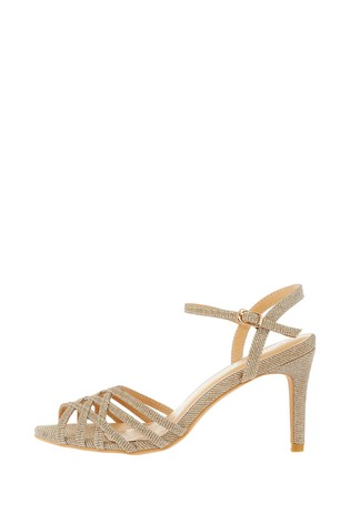 Monsoon Gold Lucy Lurex Occasion Sandals