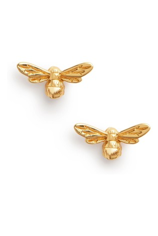 Olivia Burton Gold Lucky Bee Stud Earrings