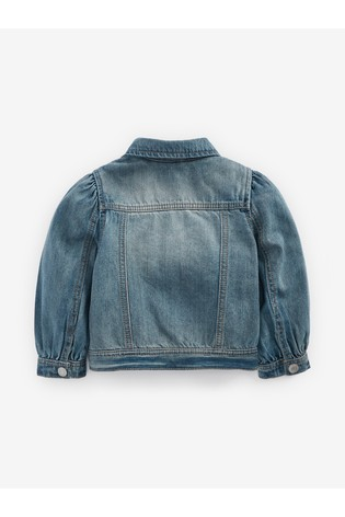 Blue Volume Sleeve Denim Jacket (3mths-7yrs)