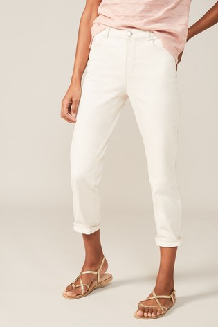 Phase Eight Cream Ramona Straight Leg Jeans