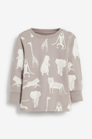 Neutral Animal 3 Pack Snuggle Pyjamas (9mths-12yrs)