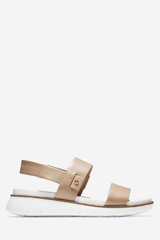Cole Haan Cream Zerogrand Global Double Band Slip-On Sandals