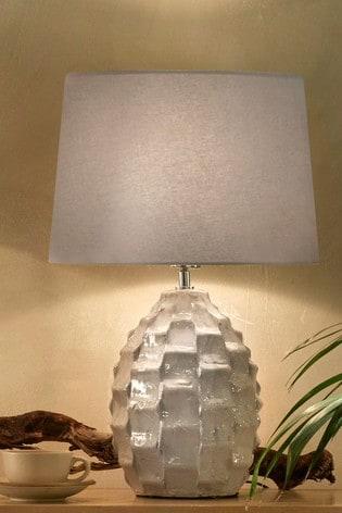 Village At Home Cream Elena Ceramic Textured Table Lamp