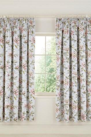 V&A Peony Blossom Pencil Pleat Curtains