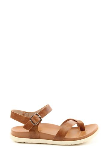 Heavenly Feet River Ladies Tan Toe Loop Sandals