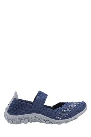 Fleet & Foster Blue Freida Slip-On Summer Shoes