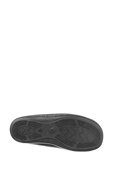 Cotswold Black Stanley Slip-On Slippers