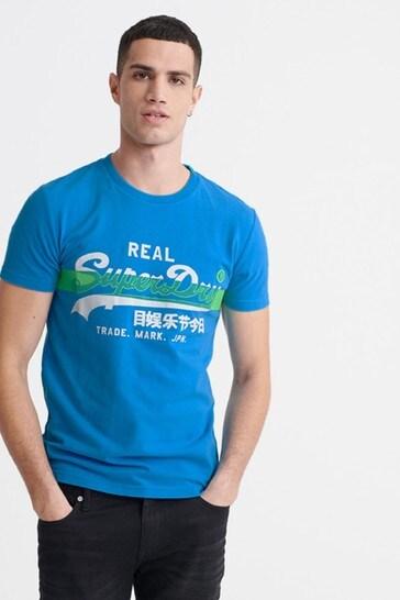 Superdry Vintage Logo Cross Hatch T-Shirt